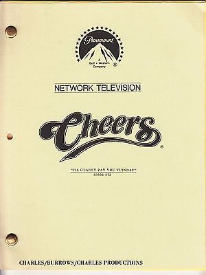 "Vintage Orig Cheers Television Script ""I'll Gladly Pay You Tuesday"" Sept 1985"