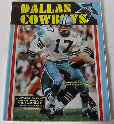 Vintage Dave Campbell's 1967 Outlook Magazine Dallas Cowboys NFL ~ Don Meredith
