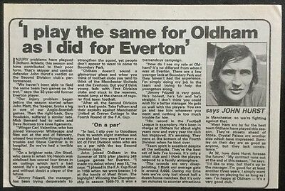 "1979 A5 Football picture article JOHN HURST Oldham ""I Play The Same as I Did"""