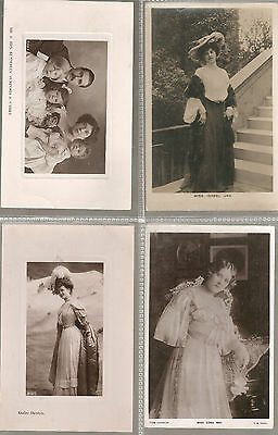 Actress postcards, to Churchill Rd Norwich Gaby Deslys, Jay,Edna May, Mumford