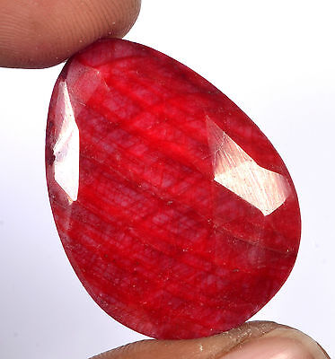 Certified 52.25 Ct. Pear Checker Natural Ruby Loose Gemstone Gem No-1346
