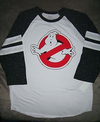 Ghostbusters Movie Raglan Sleeve T Shirt_ Officially Licensed_ New with tags