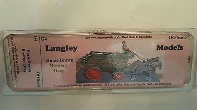Langley Models Horse Drawn Brewery Dray OO Scale #G4