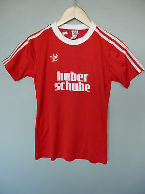 Vintage Adidas 80's Football Shirt Trikot Made In West Germany #2 Sz Small D3/4