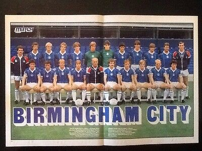 A3 Football TEAM picture/poster BIRMINGHAM CITY (1980s) RON SAUNDERS Manager