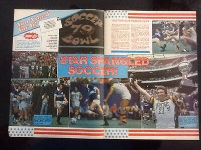 A3 SOCCER BOWL 1979 poster Vancouver v Tampa Bay Rowdies ALAN BALL/RODNEY MARSH