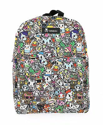 RARE Tokidoki Colorful All-Over Print Multi Character Graphic Art Backpack