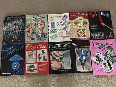 Stained Glass Supplies Lot of 10 Stained Glass Books Lot B