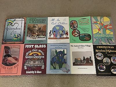 Stained Glass Supplies Lot of 10 Stained Glass Books Lot G