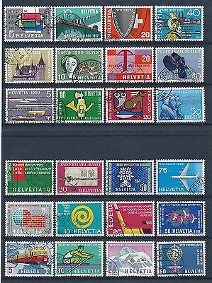 Switzerland 1957-1962 Selection of Used CV £22