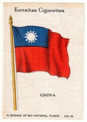 Wix Silk National Flags - China (1939) with original paper cover