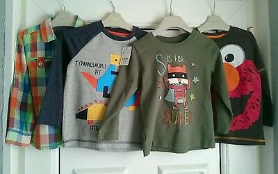 boys long sleeved tops age 3-4 years