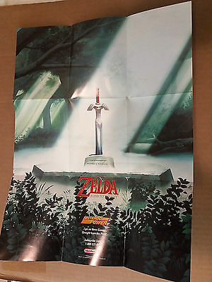 SNES Poster Insert Only Super Nintendo power ZELDA Link To The Past GP-SNS-USA-2