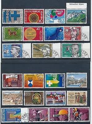 Switzerland 1976-1978 Selection of Used/ CTO CV £20
