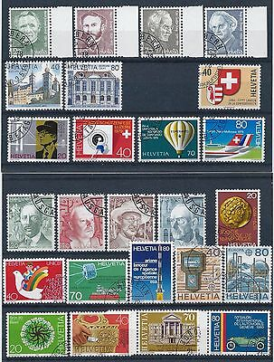Switzerland 1978-1980 Selection of Used/ CTO CV £28