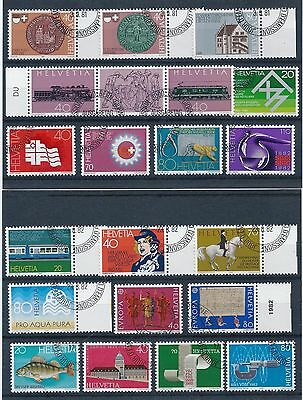 Switzerland 1981-1983 Selection of Used/ CTO CV £20