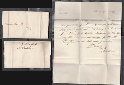 1826 One Page Pre-Stamp Folded Letter Posted To Leeds ( For Condition See Scan )