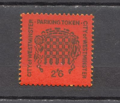 1967 City Of Westminster Parking Token Stamp 2s/6d Unmounted Mint ( For Conditio