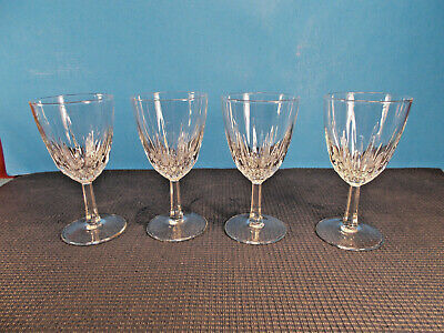 """Cristal d'Arques Crystal Diamant Pattern Set of 4 Wine Goblets 5"""""""