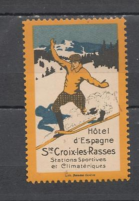 Hotel D'Espagne Ste Croix-les-Rasses Poster Stamp Unmounted Mint Full Gum ( For