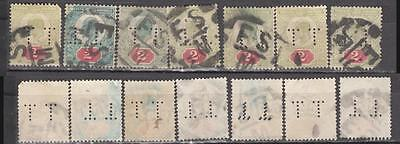 King Edward Vll 2d Perfins Unchecked For Printers & Shades 7 In Total Cat £150+