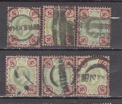 King Edward Vll 4d Green And Grey-Brown Unchecked For Printers And Watermarks 6