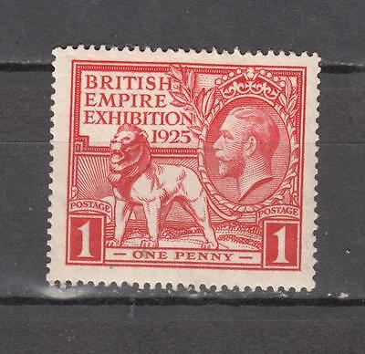 King George V 1925 British Empire Exhibition 1d Sg 432 Cat £15 Mounted Mint Full