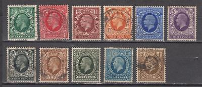 King George V 1934/36 Full Set Sg 439 to 449 All Used £20+  ( For Condition See
