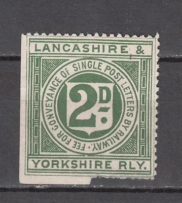 Lancashire & Yorkshire Railway 2d Fee For Conveyance Of Single Post Letters By R