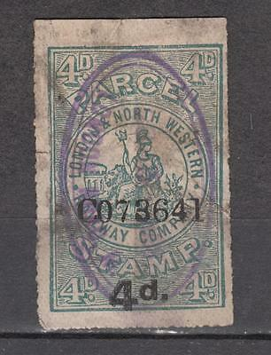 London And North Western Railway Company 4d Parcel Stamp No C073641 Used ( For C