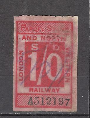 London And North Western Railway Parcel Stamp 1s Used ( For Condition See Scan )