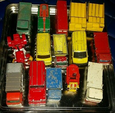 Job lot Vintage Matchbox and corgi cars 35 in total