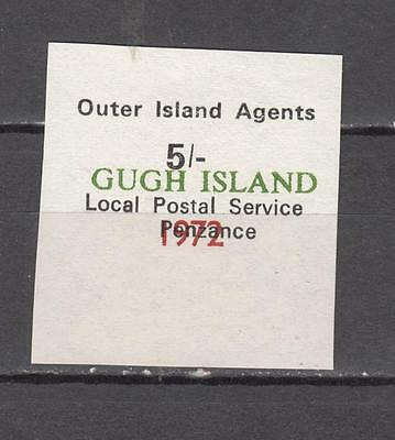 Outer Island Agents 5s Local Postal Service Penzance In Black Overprint Gugh Isl