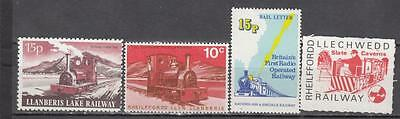 Various Welsh Railway Letter Stamps 4 in Total All Unmounted Mint Full Gum ( For