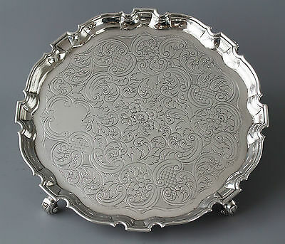 A George II Silver Salver by George Hindmarsh, London 1734