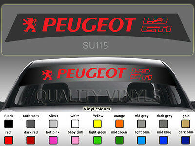 Su115 Peugeot 205 1.9 Gti Car Windscreen Sunstrip Logo Decal Stickers Vinyl