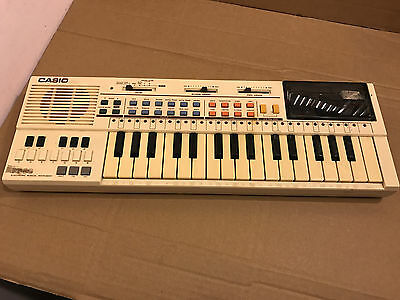 Vintage Casio PT-80 Electronic Musical Keyboard, With Vintage ROM Card