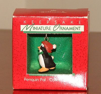 "Hallmark Miniature Ornament ""Penguin Pal"" #1 in the Series 1988, Mint in Box"