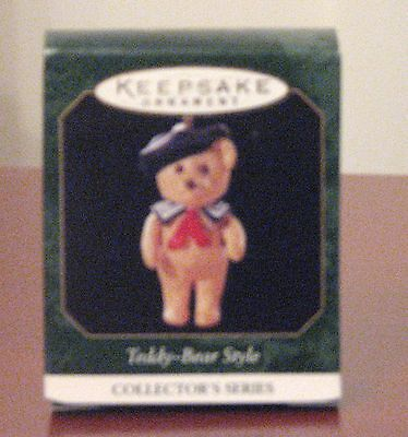"Hallmark Miniature Ornament ""Teddy Bear Style"" #3 in the Series, 1999, MIB"