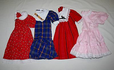 Vintage Children's Clothes Toddler or Doll Clothes  *** 4 Dresses (Sizes 4 -5)