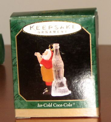 "Hallmark Miniature Ornament ""Ice-Cold Coca-Cola"" Year 1997 Mint in Box"