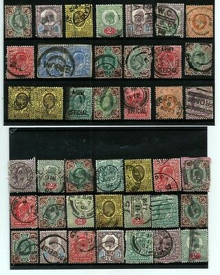 Great Britain Gb Stamps King Edvii Selection Used Stamps 42 X Stamps