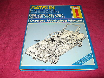 haynes workshop manual for datsun cherry