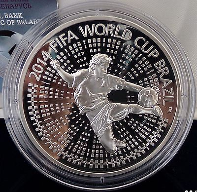 Belarus 100 Rubles 2013 The 2014 FIFA World Cup. Brazil 5 Oz Silver PP Proof