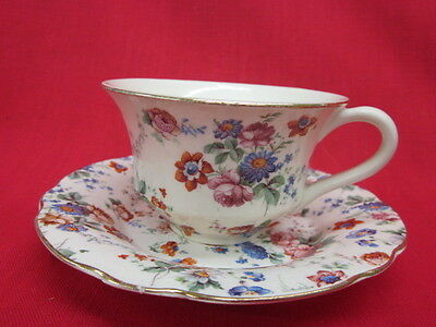 Dorset Cheery Chintz Erphila Germany Cup and Saucer Set