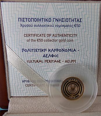 Griechenland Greece 50 Euro 2015 Delphi Gold PP Proof only 1000 pcs !