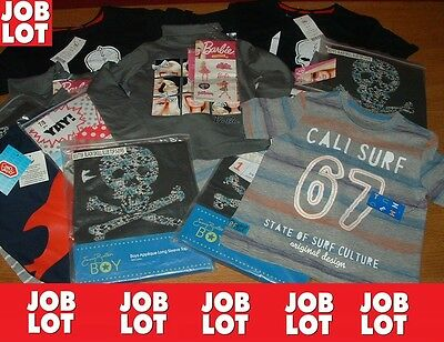 """""""JOB LOT"""" BOYS GIRLS TOPS T-SHIRTS MIX, (Royal Mail Signed For®)"""