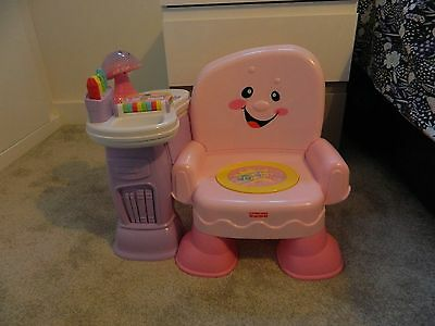 Fisher Price Laugh and Learn Pink Musical Activity Chair - Immaculate