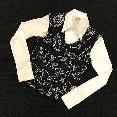 2604-01 Hobby Horse Women's Black Lariat Horse Show Vest - Limited Edition NEW