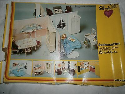Sindy Sindy's World Scenesetter 4 walls connector in box MARX TOYS 1978